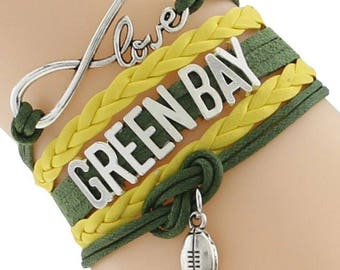 Green Bay Packers Adjustable Wrap Bracelet