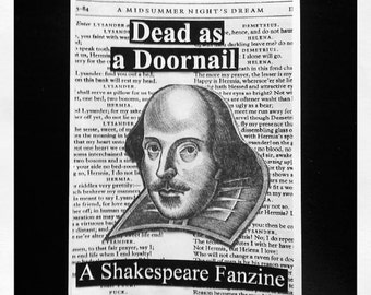Dead as a Doornail: A Shakespeare Fanzine (FREE SHIPPING!)