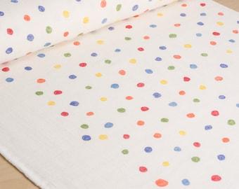 nani IRO | Japanese fabric - Colorful Pocho - wata cotton double gauze - polka dots - 1/2 YD