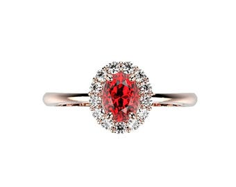 Ruby Engagement Ring Rose Gold Ring Rose Gold Ruby Engagement Ring Ruby Ring Ruby in Rose Gold Rose Gold Ruby Ring July Birthstone