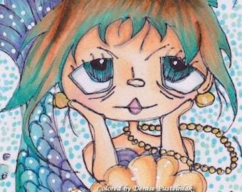 515 Mermaid Princess Digi Stamp