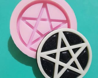 Flexible silicone Mold Pentacle semi-shiny (random color)-exclusive Lola's Cute Corner