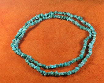 """Vintage Arizona Turquoise Necklace 34"""""""