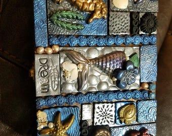 Handmade Polymer Clay Tiles Under The Sea Dream Theme. Storage Box Jewelry Box. Gift