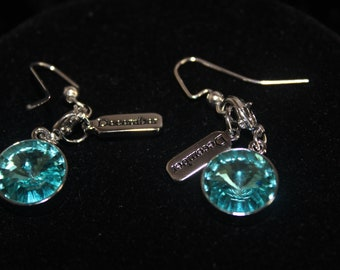 Swarovski Birthstone Charm earrings