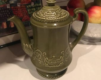 Stunning olive green coffee carafe