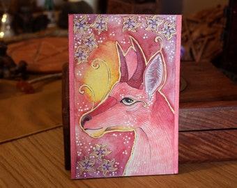 Rose Series - Bohor Reedbuck Magic - Original Art