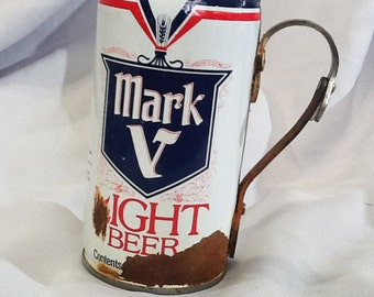 Rusty Beer can made into a mug