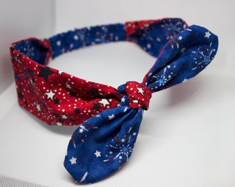 Patriotic knot headband
