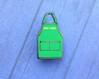 Dooses market pin, Gilmore girls pin, apron pin, enamel pin