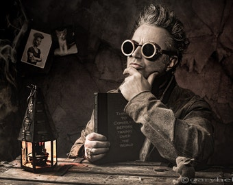 Steampunk considers things before taking over the world, dr who, Fine art photography print, signed