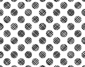 Poppies in Bloom - Black on White Circles by Patrick Lose from Patrick Lose Fabrics