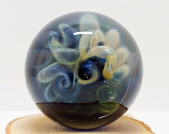 Glass Galaxy Space Marble, Meditation Marble, Glass Art, Boro Marble, Glass Orb, Art Marble, Fumed Marble, Collectible Marble, Vortex Marble