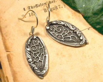 Earrings made of 999 silver, Elf, Wings