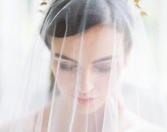gold bridal crown, gold wedding crown, gold crown, bridal headpiece, wedding headpiece, gold headpiece, gold headband - CELESTE