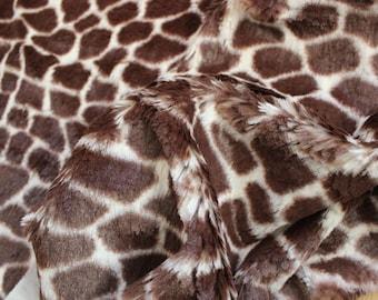 Minky Giraffe - Short Faux Fur
