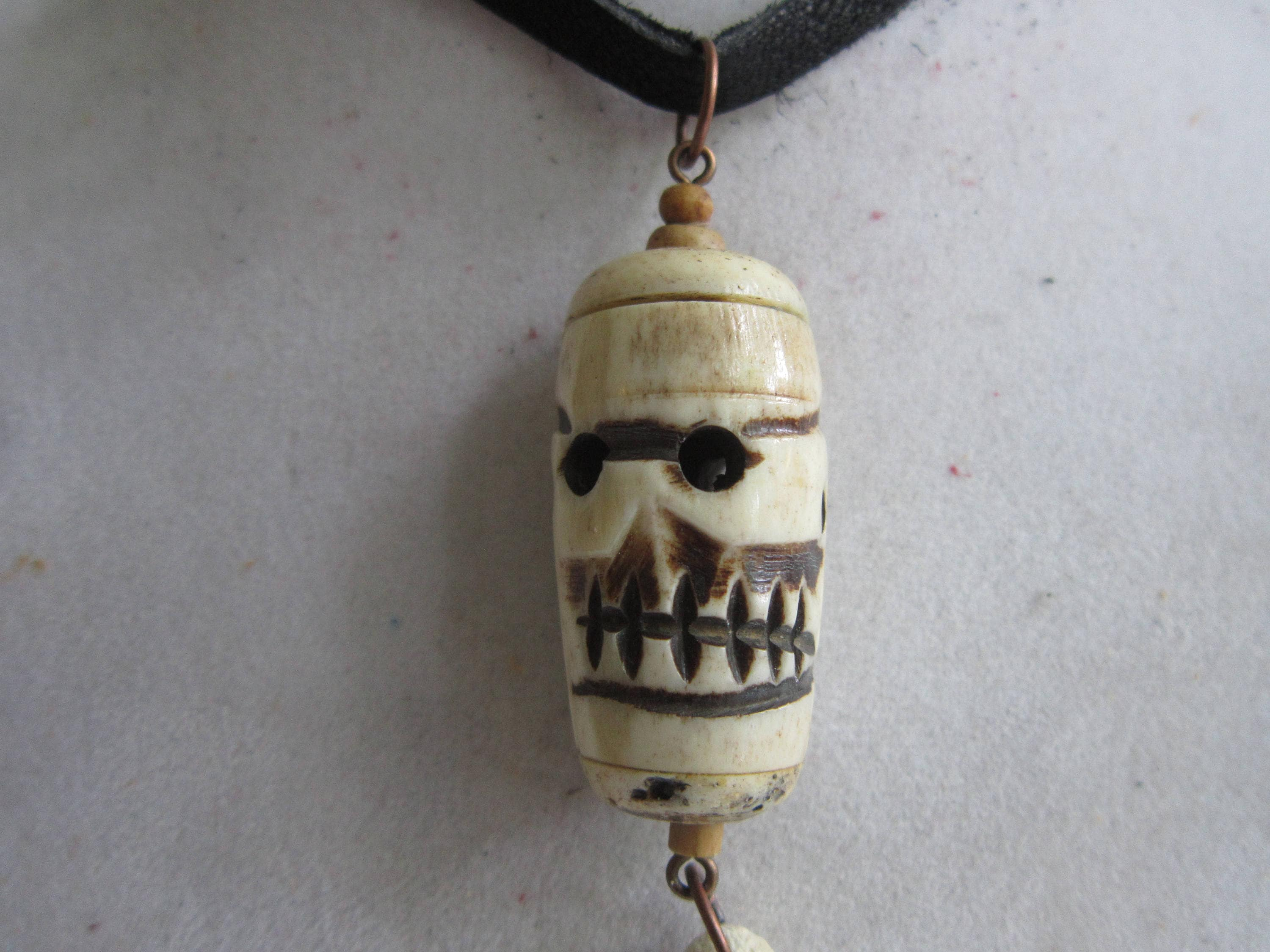 bound tooth pendant chain coyote bone gallery real artisan gold on ipsi necklace fullxfull