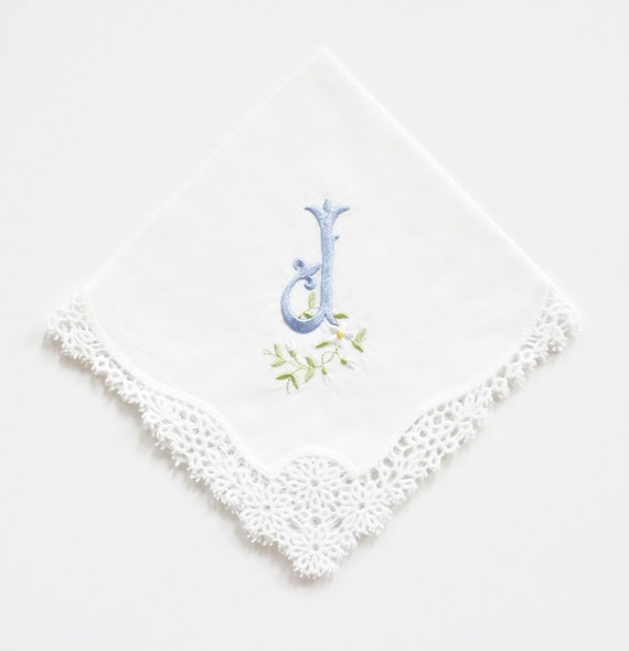 Fleur Monogram on Daisy Handkerchief