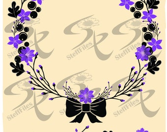 Vector WREATH,SVG,DXF,ai, png, eps, jpg,calligraphic,decoration,decorative elements,Download files, Digital, graphical
