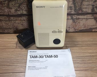 Sony Telephone Answering Machine TAM-30 with Manual, Adapter and One Tape
