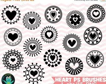 75% OFF SALE Heart Photoshop Brushes, Photoshop Heart Brush Set, Photoshop Brushes, Digital Photoshop Brushes - UZPSB878