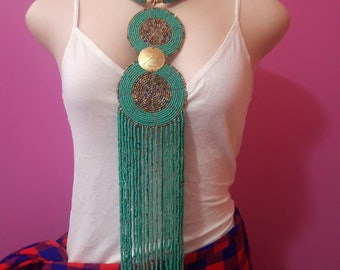 maasai necklace / beaded necklace / african necklace / tribal necklace / colorful necklace