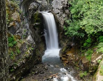 Mt. Rainier Waterfall Christine Falls and Bridge