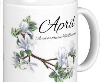 Birthday Birthstone April Diamond Gift Mug