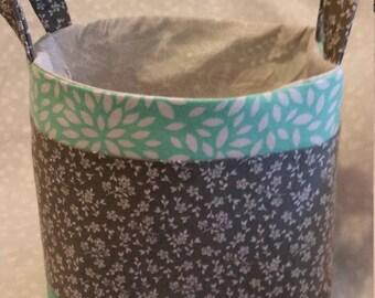 Gray fabric basket
