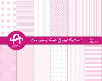Digital PinkWhite Patterns Download Digi Instant Downloads Paper