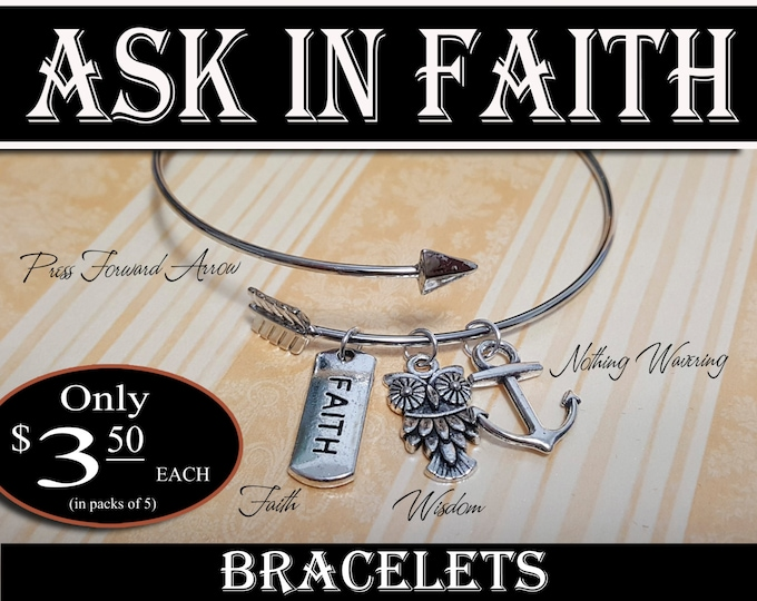 YW 2017 Ask of God Ask in Faith Charm Bracelets Young Women Theme Jewelry Charms New Beginnings, Missionary, Christmas, Birthday gifts