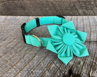 Grid Green Fabric Flower Accessory