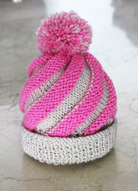 Baby Swirl Hat Knitting Pattern Instant Download Baby