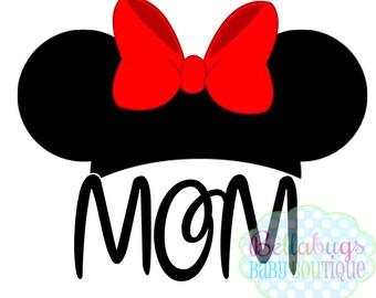 Mouse Head with Name Disney Trip IRON ON TRANSFER - Tshirt - Bodysuit - Tote Bags - First Disney Trip - Disney Birthday