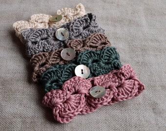 BIBI Crochet Bracelet Cuff, Stylish Crochet Bracelet, Pretty Crochet Accessory Wear, Handmade Crochet Vintage Style Bracelet, Vintage Style