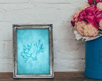 Coral Print, Sea Life Print, Coral Art, Sealife Decor, Ocean Gifts, Wall Art, Art Print, Under the Sea, Beach House Decor, 4 x 6, 5 x 7