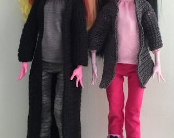 """Full Jacket for Monster High 17"""" tall PDF Crochet Pattern"""