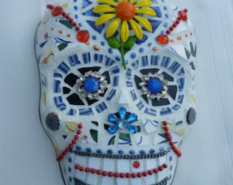 Mosaic Day of the Dead Sugar Skull