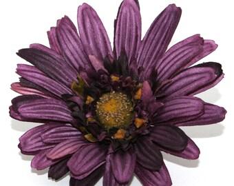 Textured Purple Gerbera Daisy - Artificial Flowers, Silk Flowers - PRE-ORDER