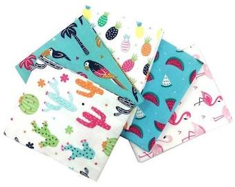 Tropicana Fat Quarters Bundle - 100% Cotton - Fabric/Textile