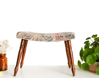 Vintage footstool, small bench