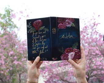 Flower Painted Bible