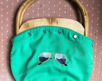 Custom Bermuda Bag with Large Bamboo Handles