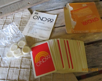 Vintage 1980 International Games Uno 99 Card Game Original Box Complete with Instructions - Good used condition