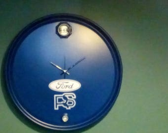 Unique Clock made from Oil Drum Lid