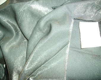 NO. 185-FABRIC NOT FROISSABLE THICK - SILVER GREY SATIN