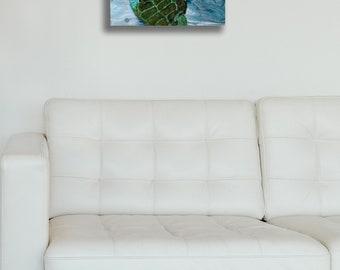 Acrylic painting,Sea turtle