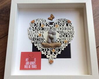 Pebble Art wedding, wedding gift, Valentine gift, gift for her, gift for him, wall decor, valentine gift for wife, birthday gift, wife gift