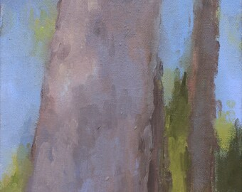 Trees- Original Painting / Landscape Painting / Plein Air Painting / Oil Sketch