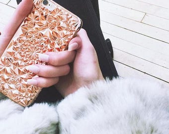 Rose Gold Geometric Kaleidoscope Case for iPhone 6/6s // Rose Gold iPhone 6/6s Case (6KSXP-RG)